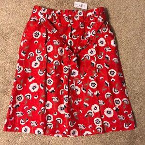 Poppy Lilac - Printed pull-on bow midi skirt